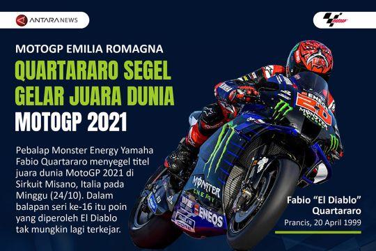 Quartararo segel gelar juara dunia MotoGP 2021