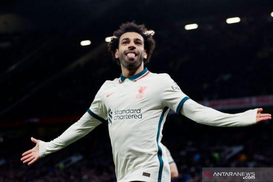 Liga Inggris:  Salah hat-trick, Liverpool bantai Manchester United 5-0