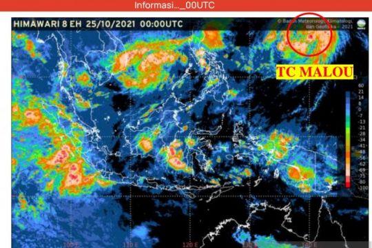 Intensitas Siklon Tropis Malou diperkirakan meningkat 24 jam ke depan
