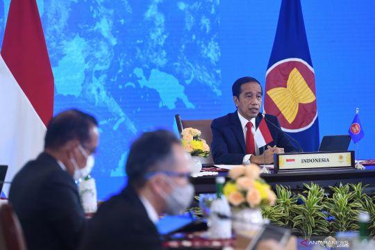 Presiden Joko Widodo hadiri KTT ASEAN secara  virtual