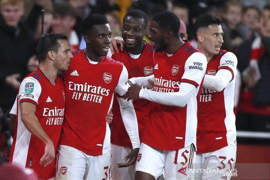 Arsenal mulus lewati Leeds menuju perempat final Piala Liga Inggris