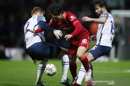 Liverpool dan Brentford mulus lewati tim strata kedua di Piala Liga