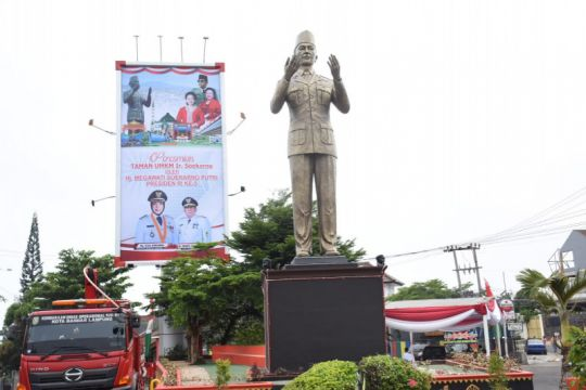Megawati resmikan Taman UMKM Bung Karno di Bandarlampung
