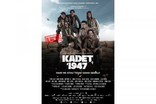 """Menuju tayang, """"Kadet 1947"""" rilis poster resmi di momen Sumpah Pemuda"""