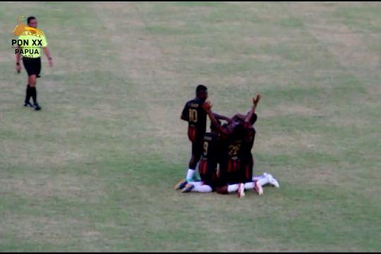 Lumat Sumut 2-0, Tim Sepak Bola Putra Papua maju ke semifinal