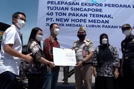 BBKP Belawan lepas ekspor perdana pakan ternak ke Singapura