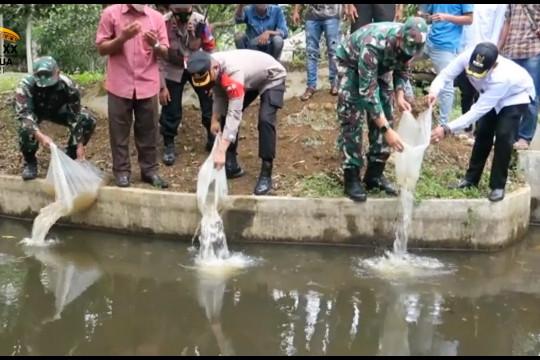 TNI bagikan bibit ikan untuk tingkatkan taraf hidup masyarakat