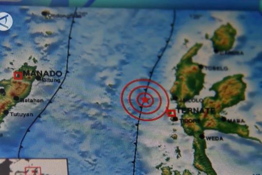 Gempa berkekuatan magnitudo 4,7 terjadi di Ternate