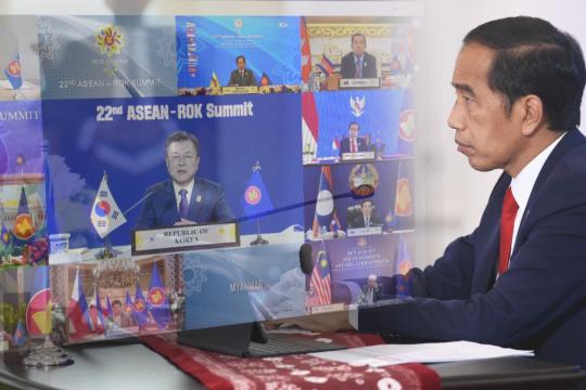 Jokowi sebut potensi ekonomi digital dan hijau ASEAN - Korea besar