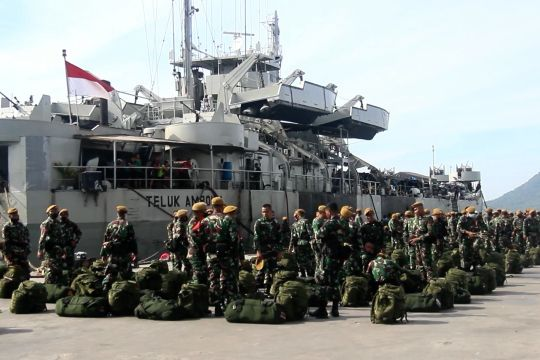 Korem 152 lepas sambut prajurit TNI PAM Satgas di Malut