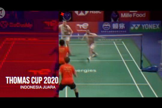 Penantian 19 tahun, Indonesia juara Thomas Cup 2020