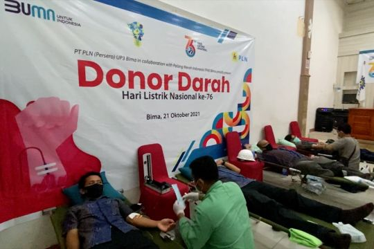 Peringati HLN ke-76, PLN NTB gelar aksi donor darah