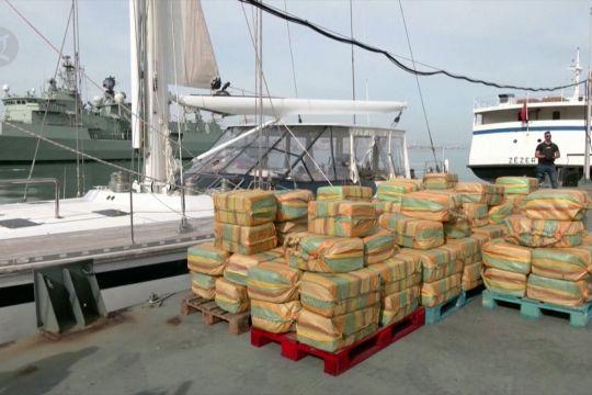 Polisi sita 5,2 ton kokain di lepas pantai Portugal
