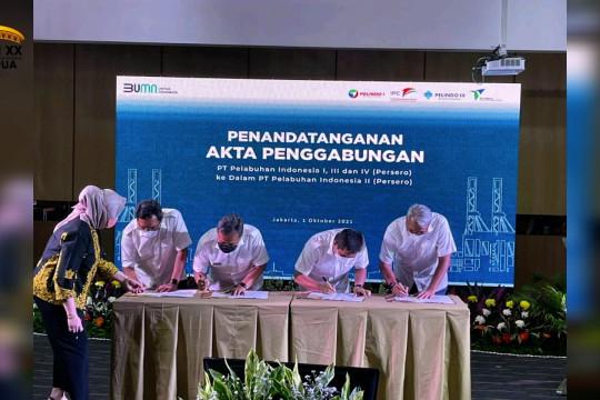 Empat BUMN sektor pelabuhan resmi merger menjadi satu Pelindo