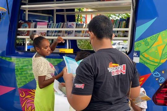 Perpustakaan keliling tumbuhkan minat baca di PON Papua