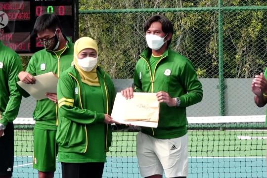 Tim tenis putra Jatim dapat bonus mentas dari Gubernur Khofifah