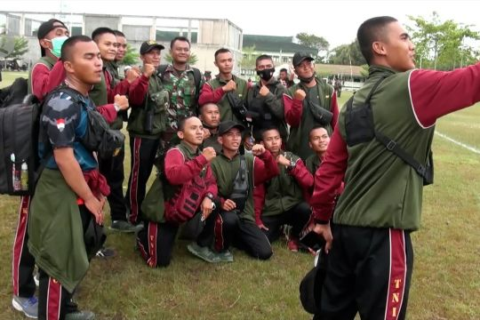 387 Komcad asal Kalteng kembali usai pelatihan di Batu Jajar