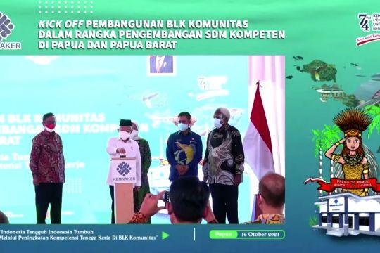 Wapres resmikan pembangunan BLK Komunitas Papua dan Papua Barat