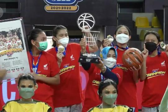 Tim Putri SMAN 70 juarai DBL Jakarta Series 2021