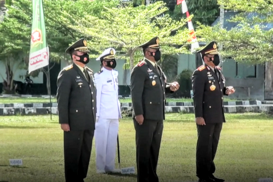 Korem 102 PJG gelar upacara HUT ke-76 TNI tanpa pasukan