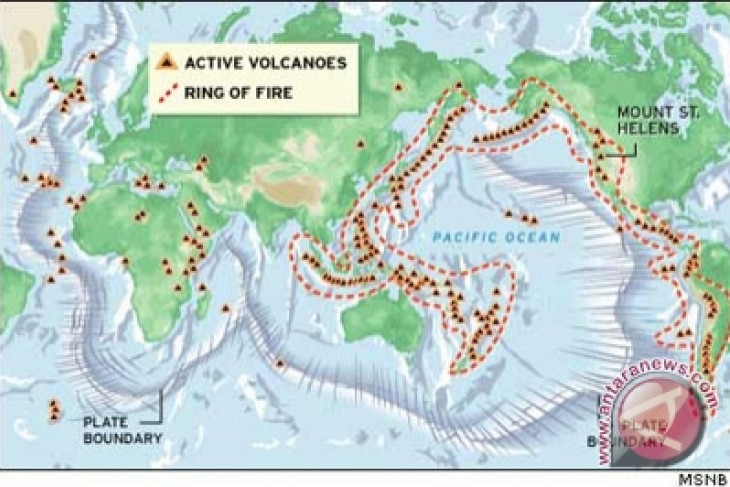 """RI sits on Pacific """"ring of fire"""" : official"""