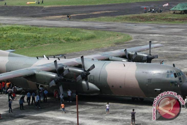 Naskah UN  tiba di Palu dengan Hercules TNI