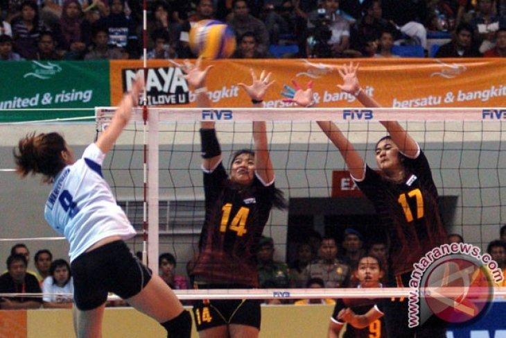 Tim voli putri Indonesia kandaskan Myanmar