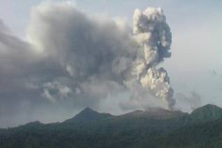 Mount Dukono spews volcanic ash