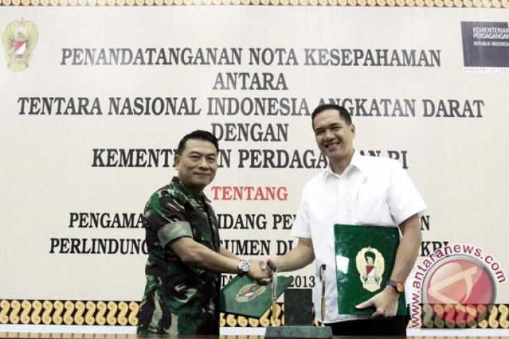 TNI AD-Kemendag amankan perdagangan di perbatasan