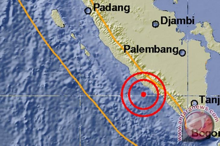 Gempa 5,3 SR guncang Bengkulu