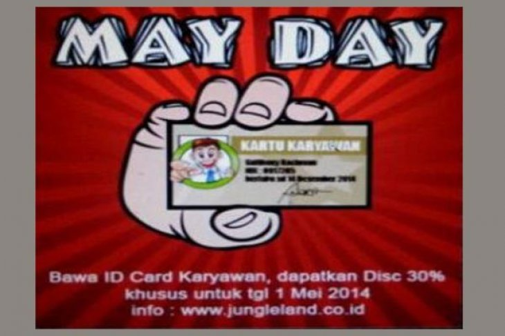 May Day Jungleland beri potongan harga tiket