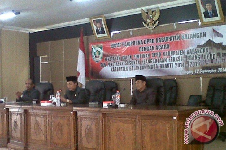 Dewan Balangan Tetapkan Lima Fraksi