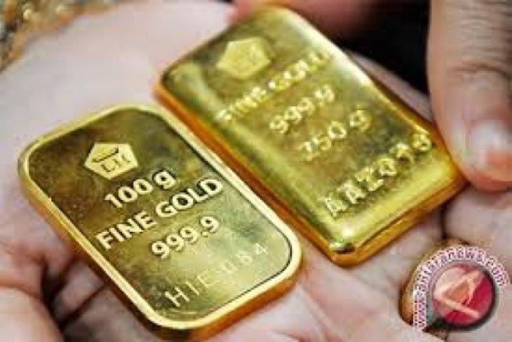 Emas naik tipis seiring penurunan ekuitas