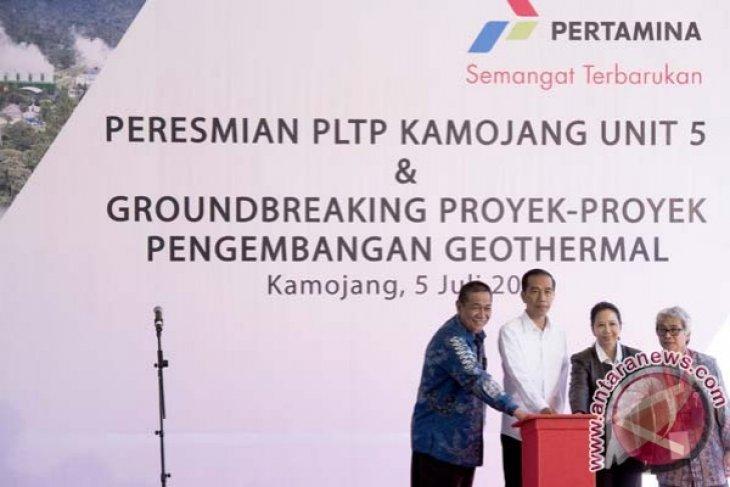 Presiden resmikan PLTP Kamojang V
