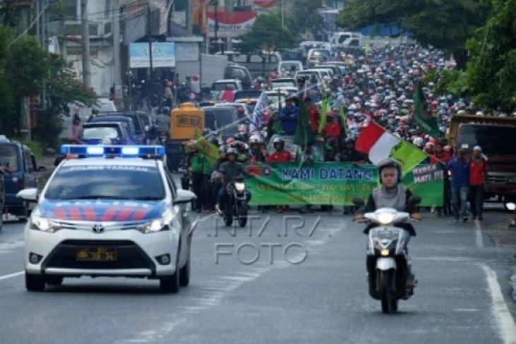 Demo Buruh di Kaltara