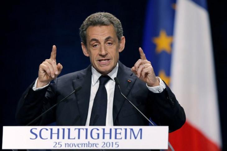 Nicolas Sarkozy ditangkap karena didanai Moamar Kadhafi