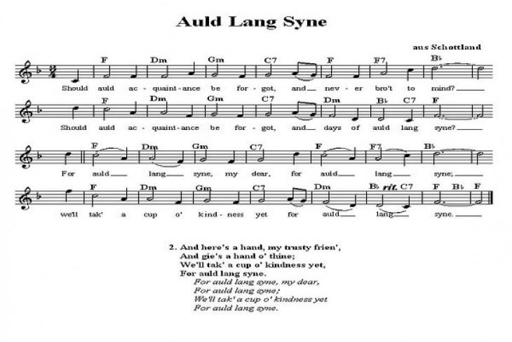 """Fakta dibalik lagu """"Auld Lang Syne"""""""