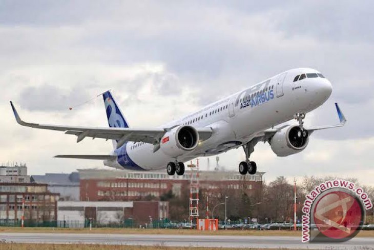 A321neo mengudara untuk pertama kalinya