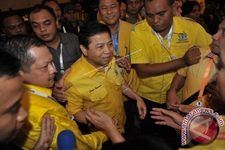 Novanto ditetapkan sebagai ketua umum Partai Golkar