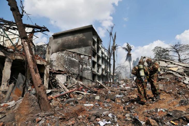 Pabrik kimia terbakar tewaskan 12 orang, lukai 50