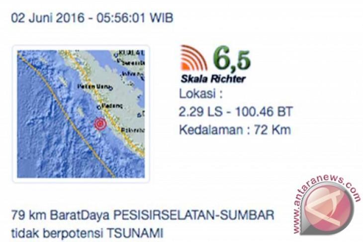 BMKG katakan gempa tidak berpotensi tsunami