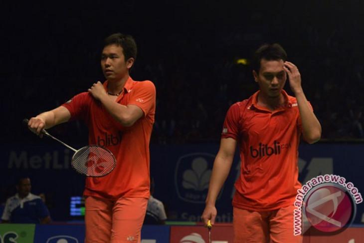 Hendra/Ahsan dan Angga/Rian ke babak utama Kejuaraan Asia