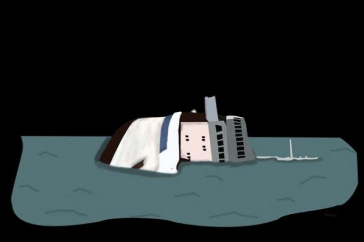 Kapal keruk China terbalik di Malaysia, 14 orang hilang