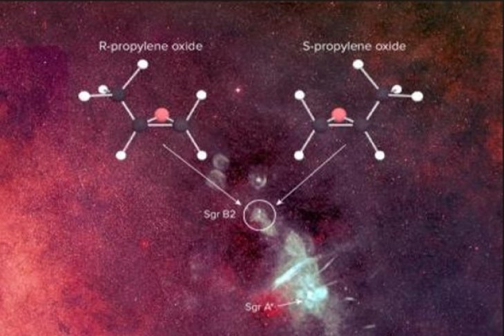 Asymmetric molecule, key to life, detected in space for first time