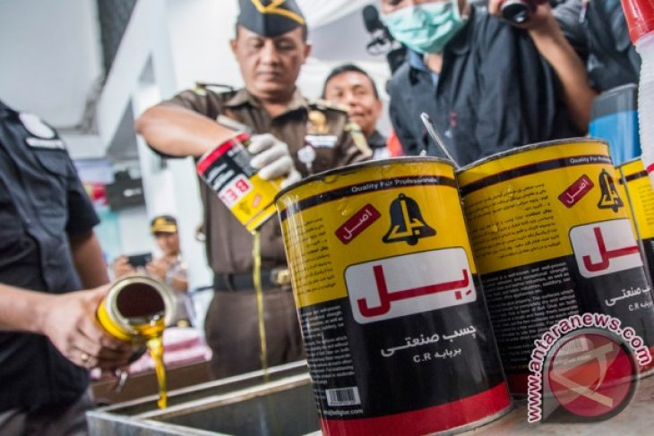 Jakarta Metro Police destroys 46kg of methamphetamine