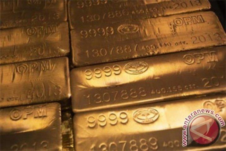 Transaksi emas berjangka berakhir lebih rendah karena dolar AS lebih kuat