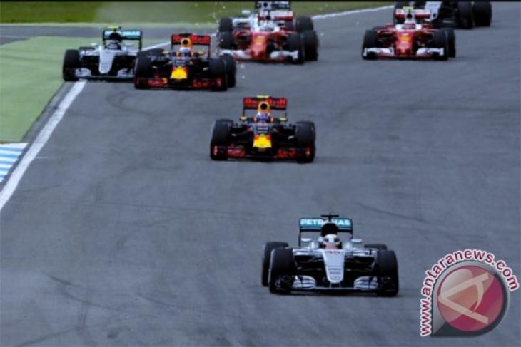 Hujan deras hambat latihan terakhir Grand Prix Jerman