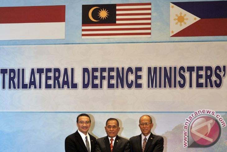 Menhan tiga negara bahas jaminan keamanan maritim