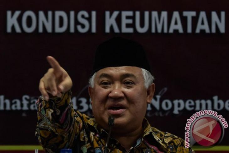 Din akui bahas Ahok dengan Jokowi
