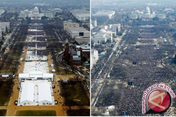 Lihat Foto Pengunjung Dua Pelantikan Ini, Media Atau Trump Yang Bohong?